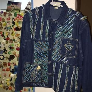 2/$5🆑🆑 Vintage YaK MagiK Jacket denim Artsy
